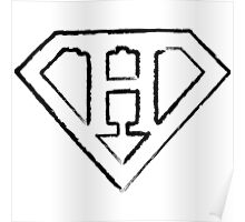 H letter in Superman style Poster