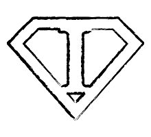 I letter in Superman style Photographic Print