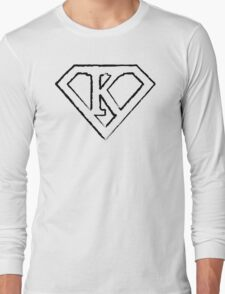 K letter in Superman style Long Sleeve T-Shirt