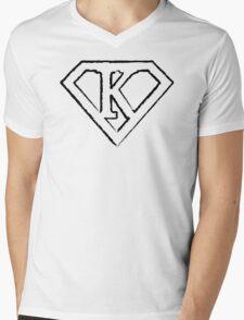 K letter in Superman style Mens V-Neck T-Shirt