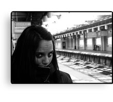 Waiting for trains Canvas Print