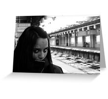 Waiting for trains Greeting Card