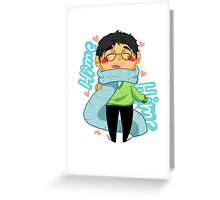 Hime Hime Scarf Greeting Card