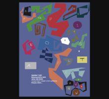 Alphabet T-shirt by Peter Osborne