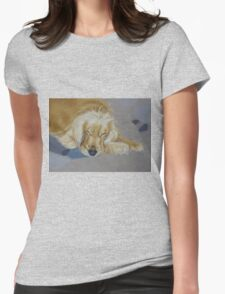 Sleeping Pet Womens Fitted T-Shirt