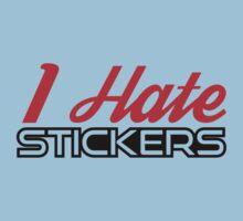 I Hate Stickers Red/Black by MikeKunak