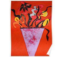 Vase flowers Poster
