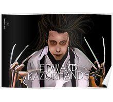 Edward Razorhands Poster