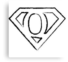 Q letter in Superman style Canvas Print