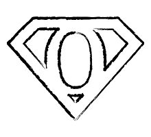 O letter in Superman style Photographic Print