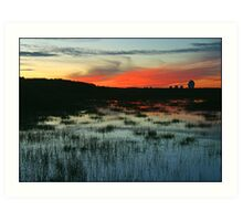 Goonhilly sunset ( AS IS ) Art Print