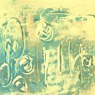 Aqua Monotype No 2 by Susan Grissom