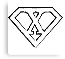 X letter in Superman style Canvas Print