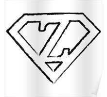 Z letter in Superman style Poster