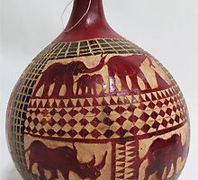 Gourd Large - African Artifacts by Gary Humphrey