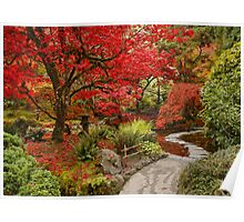 Japanese Garden in Butchart Gardens, BC, CANADA Poster