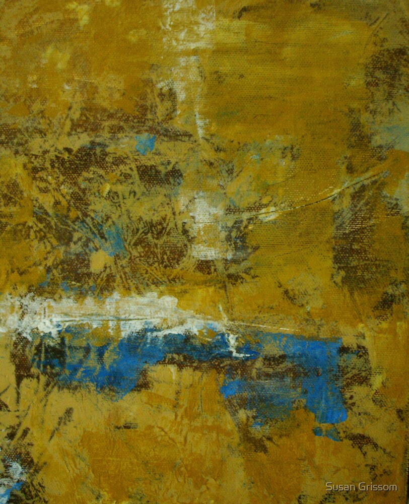 Ochre and Blue No 5 by Susan Grissom