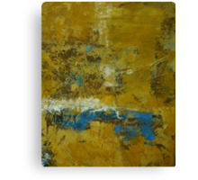Ochre and Blue No 5 Canvas Print