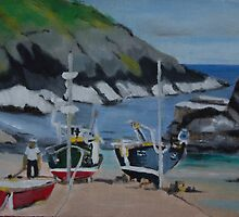 Boats in Cornwall by kreativekate