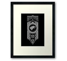 House Stark (White) Framed Print
