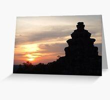 Cambodian Sunset Greeting Card