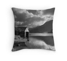 Boathouse, Llyn Cregennen Throw Pillow