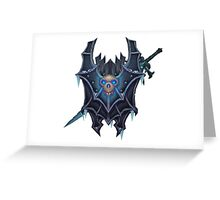 Frostmourne Shield & Sword Greeting Card