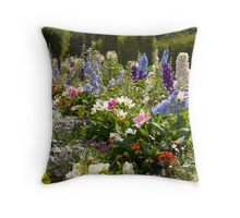 Flowers in Versailles Throw Pillow