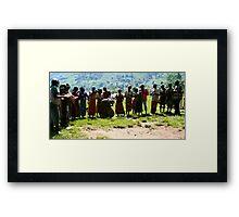 Pygmys of Uganda Framed Print
