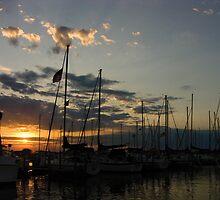 Sunset in Sandusky by J J