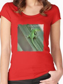 Get out of my hair!! Women's Fitted Scoop T-Shirt