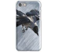 Flying Hooded Crow iPhone Case/Skin