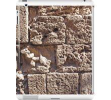 Old sea sand stone wall background iPad Case/Skin