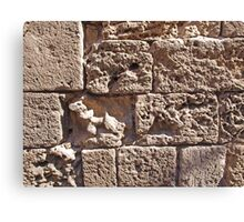Old sea sand stone wall background Canvas Print