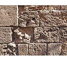 Old sea sand stone wall background Photographic Print