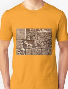 Old sea sand stone wall background T-Shirt