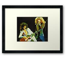 Just the Best. Robert Plant and Jimmy Page  Framed Print