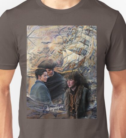 Jamie, Claire and young Ian Unisex T-Shirt