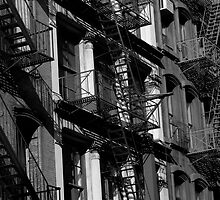 NYC Fire Escapes in Black and White by PBergePhoto