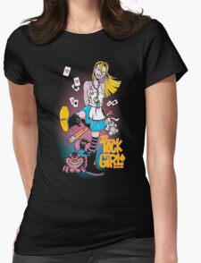 Tick Tock Girl Womens Fitted T-Shirt