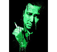 Bill Hicks (green) Photographic Print
