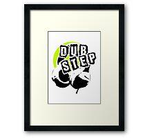 Dub Step Point (with headphones) Framed Print