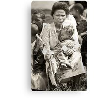 'Compassion in hell,' Northern Rwanda  Canvas Print