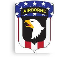 101ST AIRBORNE DIVISION PATRIOT Canvas Print