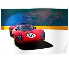 1966 Ferrari SP206 Replica Poster