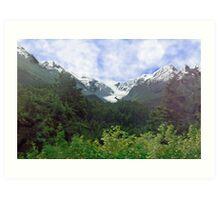 Two Glaciers Art Print