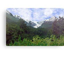 Two Glaciers Canvas Print