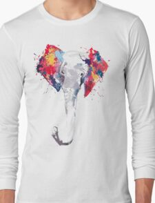 Elephant Art Long Sleeve T-Shirt