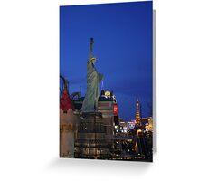 Vegas Strip: New York-NewYork Greeting Card
