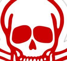 Danger!! Mines!! ☠ Cambodian Khmer Sign ☠ Sticker